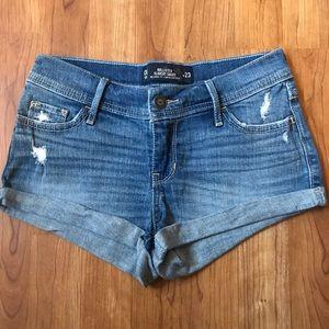 Hollister Low Rise Denim Jean Shorts Sz 00/23